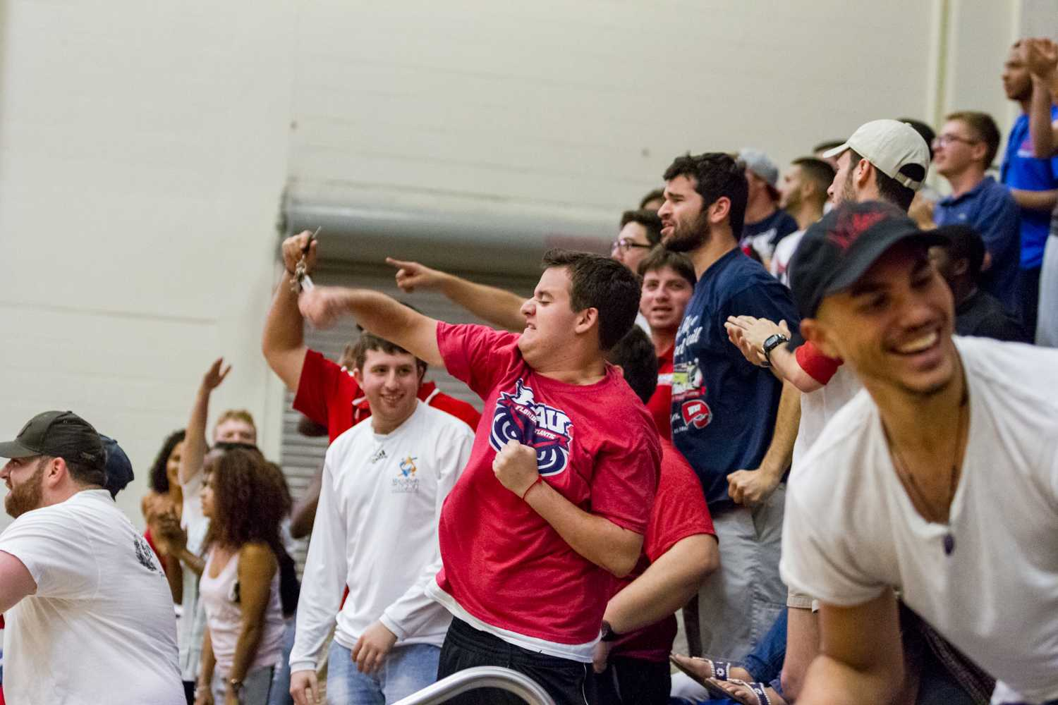 The crowd at the Burrow celebrated with few seconds left in the game as FAU won over Marshall 76-62.