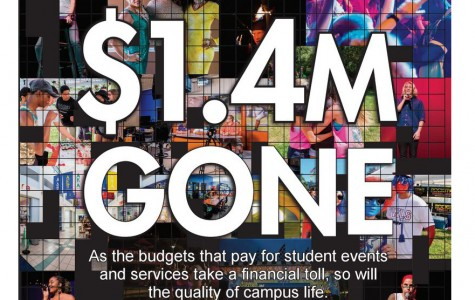 Student organizations' budgets are being cut by 1.4 million