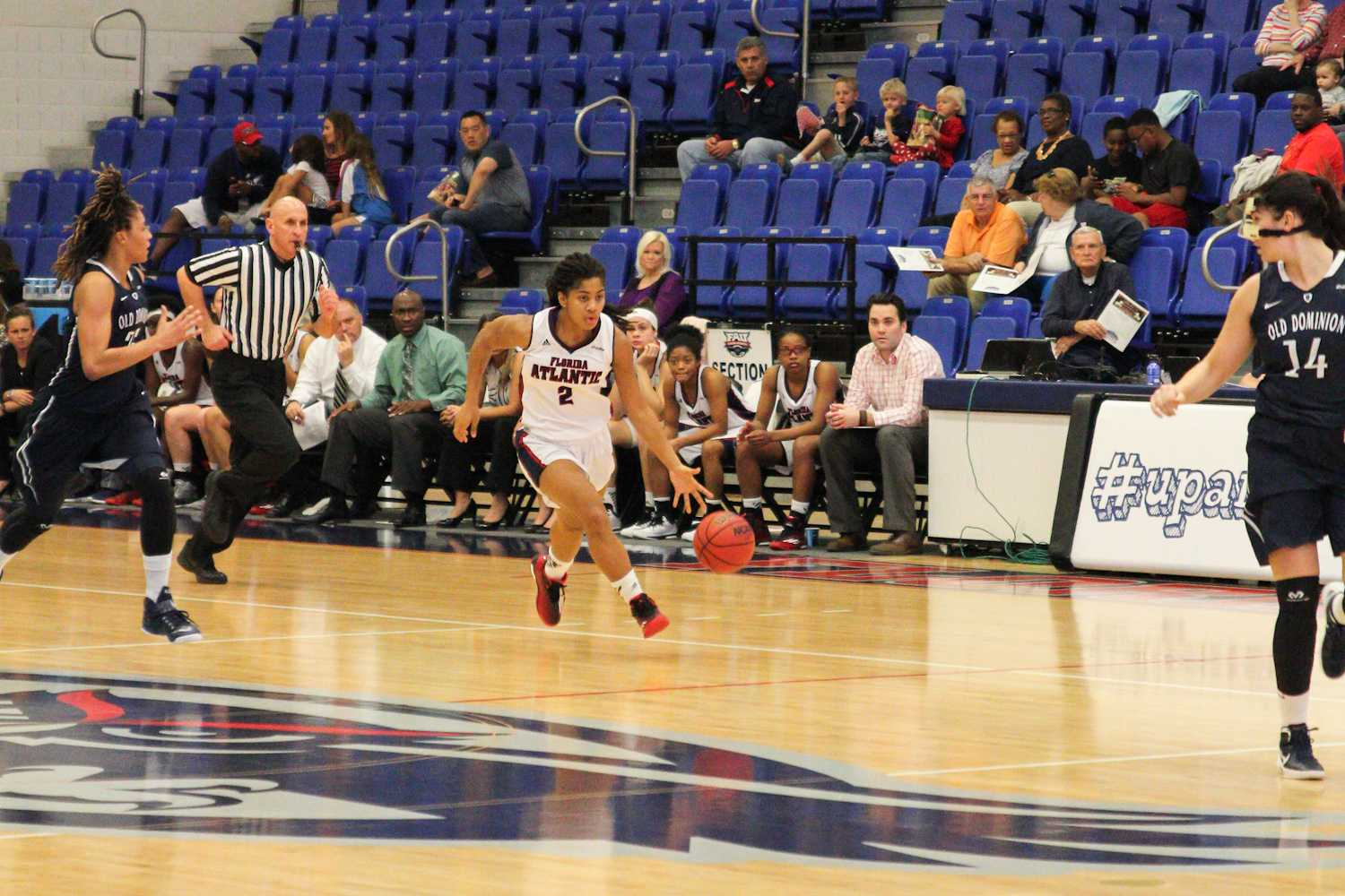 Shaneese Bailey (2) drive to the basket in the first half of play against Old Dominion.