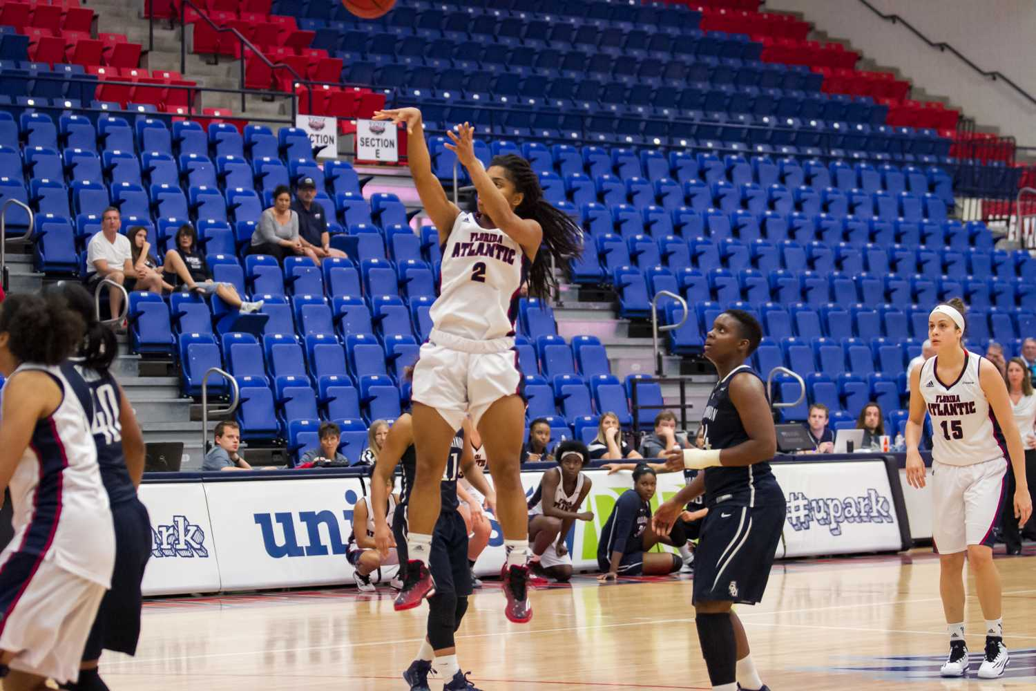 Bailey shoots a mid-range jump shot in the second half. She scored a total of 15 points in the loss to ODU on Jan. 31.