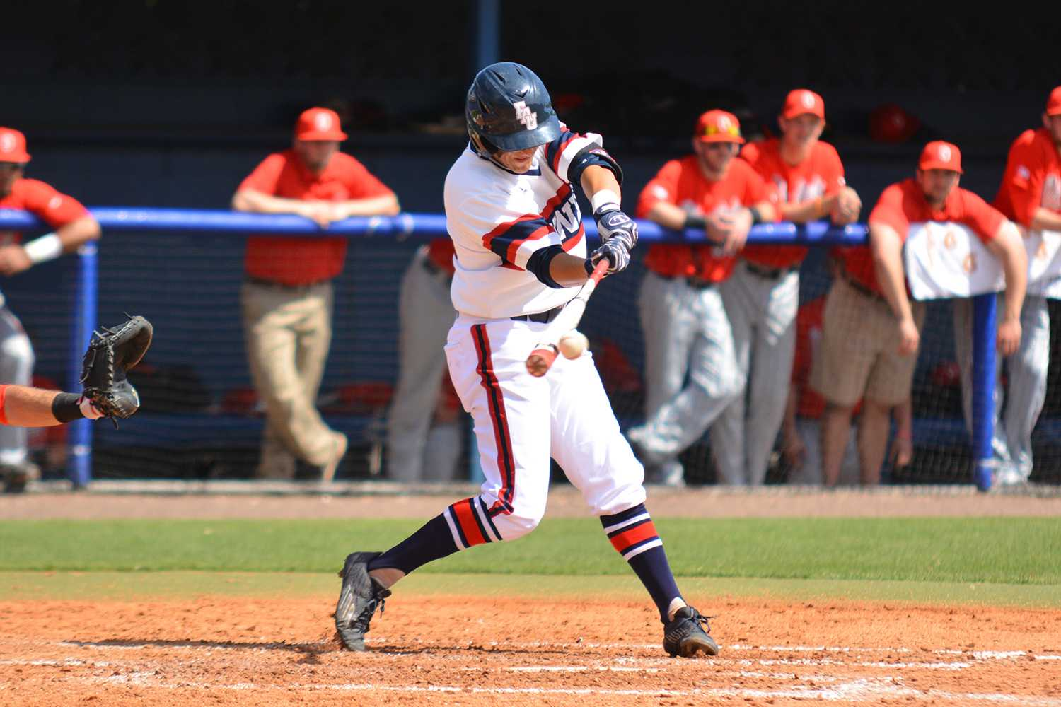 Lashley (12) was the only Owl to pick up an RBI in Sunday's final match against Ohio State.
