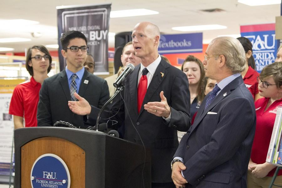 Florida+Gov.+Rick+Scott+visited+the+FAU+Boca+campus+on+Feb.+12%2C+2015.+Idalis+Streat+%7C+Contributing+Photographer+