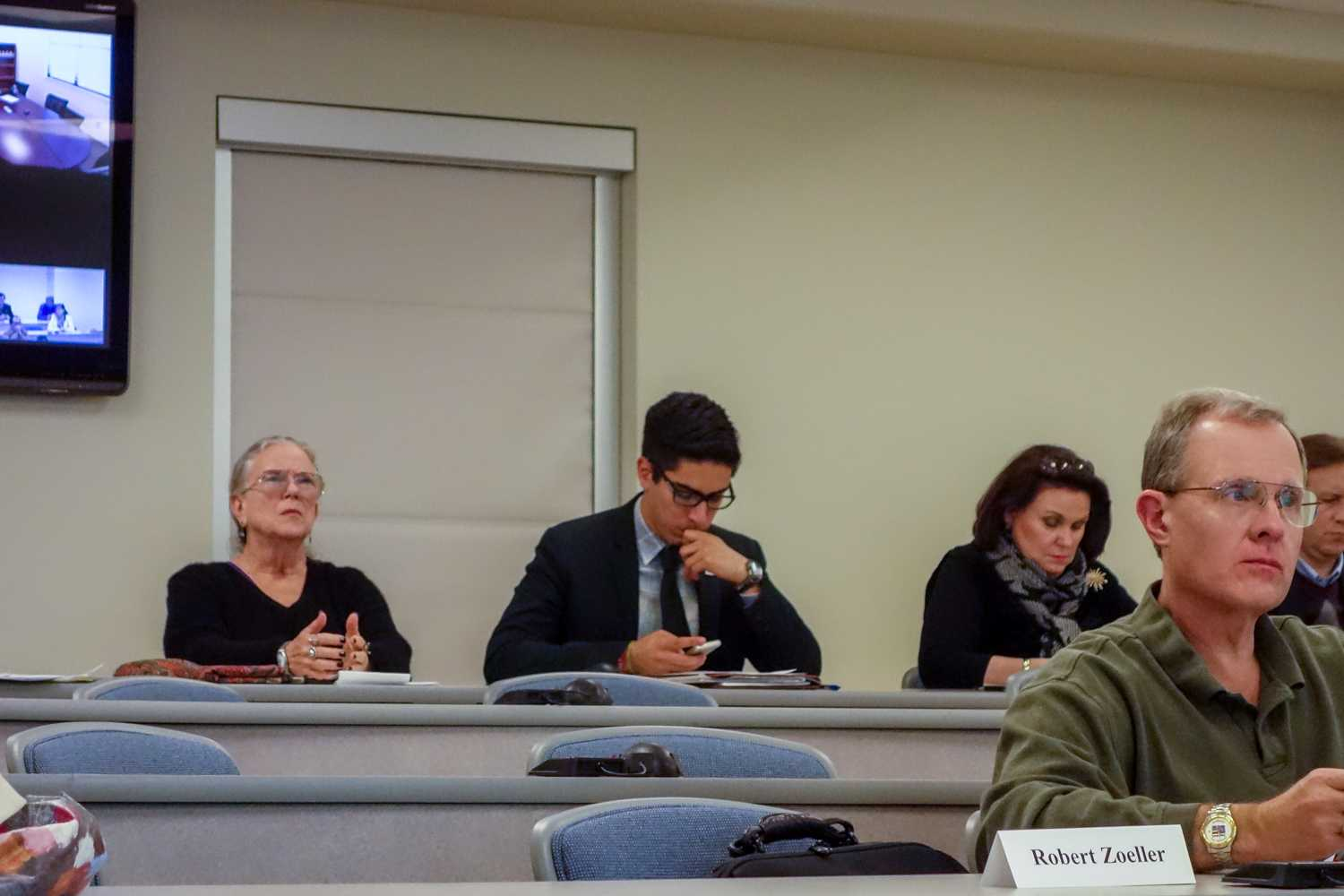 Student Body President Michael Cepeda attends his first faculty senate meeting. Lynnette Cantos | Asst. News Editor