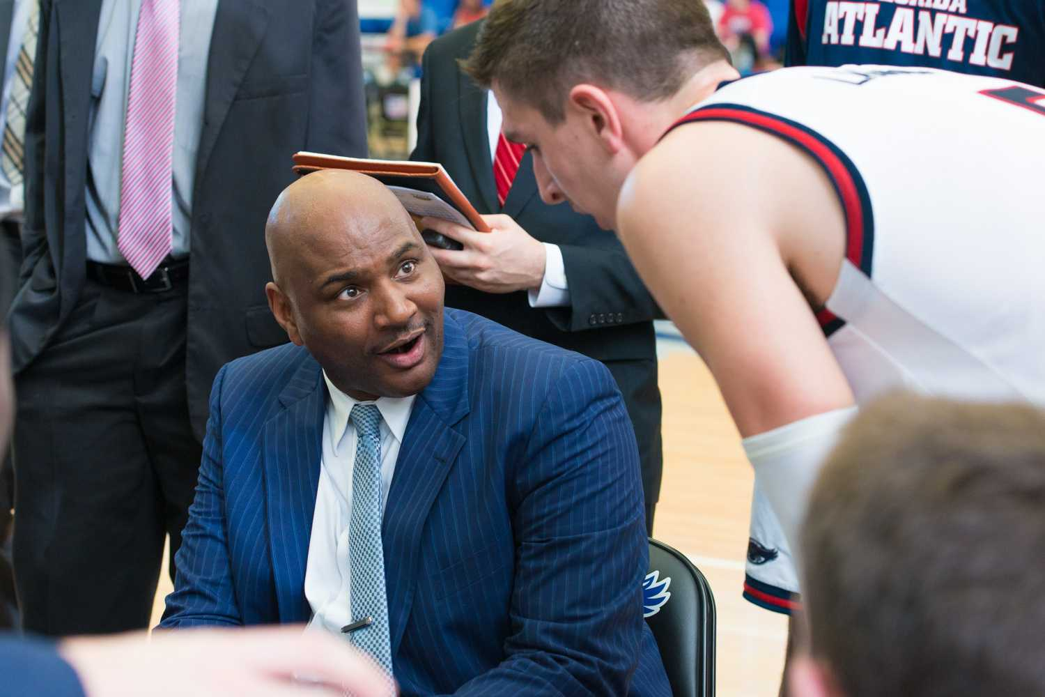 FAU Men's Basketball Coach Michael Curry $325,000 annual salary. Photo by Max Jackson | Photo Editor