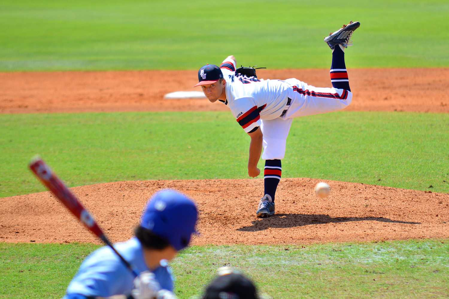 Sunday's starting pitcher Brandon Rhodes pitched six innings while striking out two batters and allowing two runs to start off Sunday's 7-6 loss. Photo by Michelle Friswell | Associate Editor