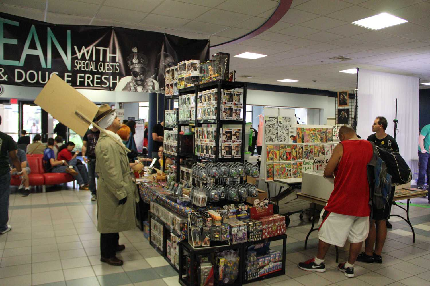 Action figures and collectibles were just as commonplace for sale as 80s and 90s comics.