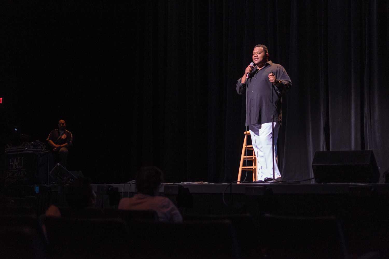 Jean Nervil hosts Program Board's March 25th comedy show. Mohammed F Emran | Web Editor