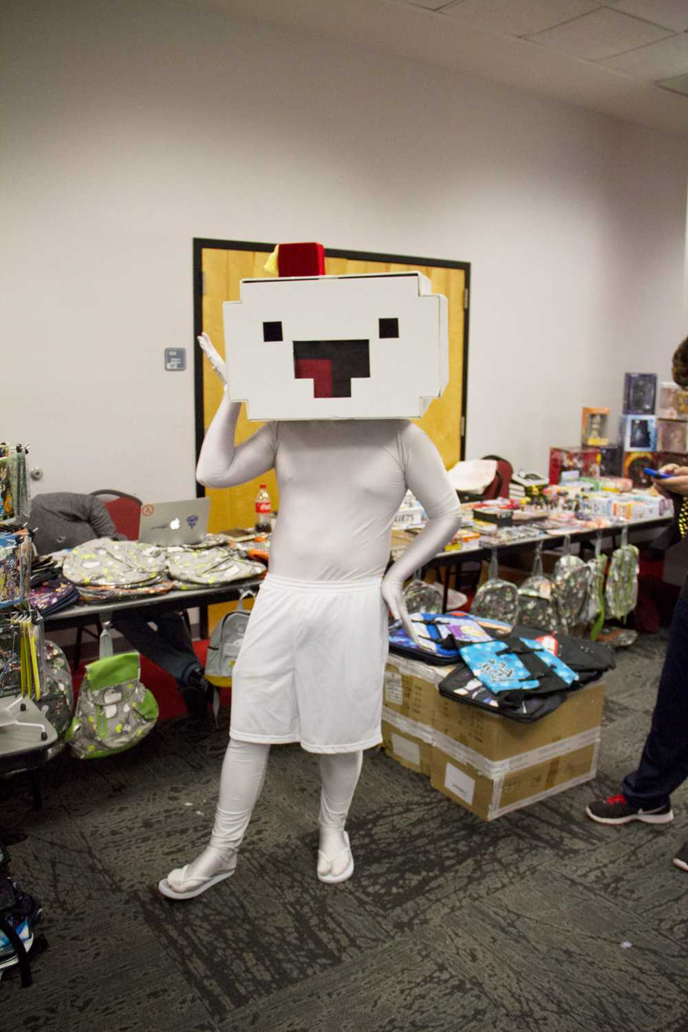 Student Andrew Kippenham dresses the titular character from the indie video game Fez.