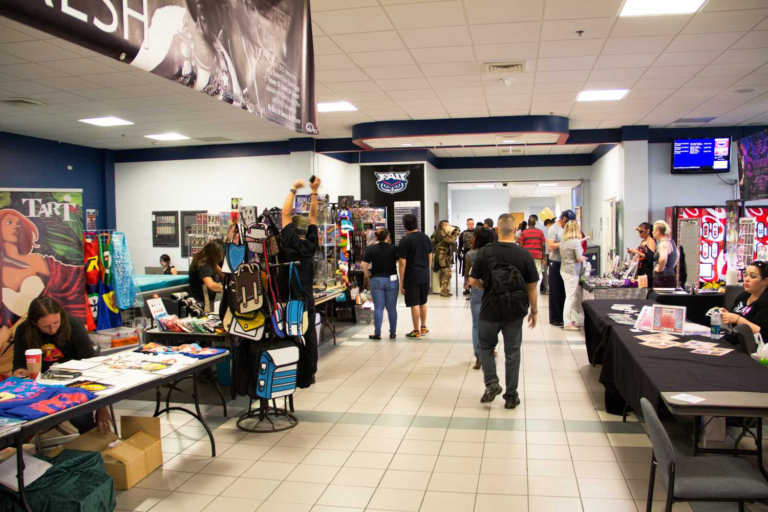 Vendors prepared for business in the lobby of the Student Union for the festival, which went on from March 21 to the 22.