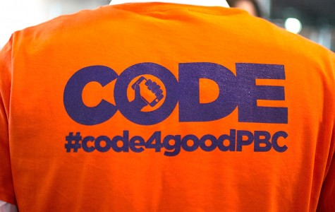 The participants of Code4Good had the opportunity to have custom shirts made for them. Photo by Alexis Hayward | Web Assistant