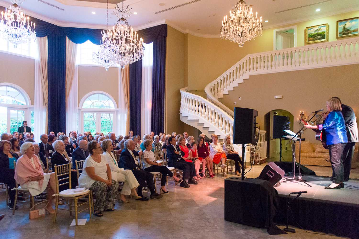 A crowd of about 85 people came to the Baldwin House to watch Elisabeth von Trapp perform. Max Jackson   Photo Editor