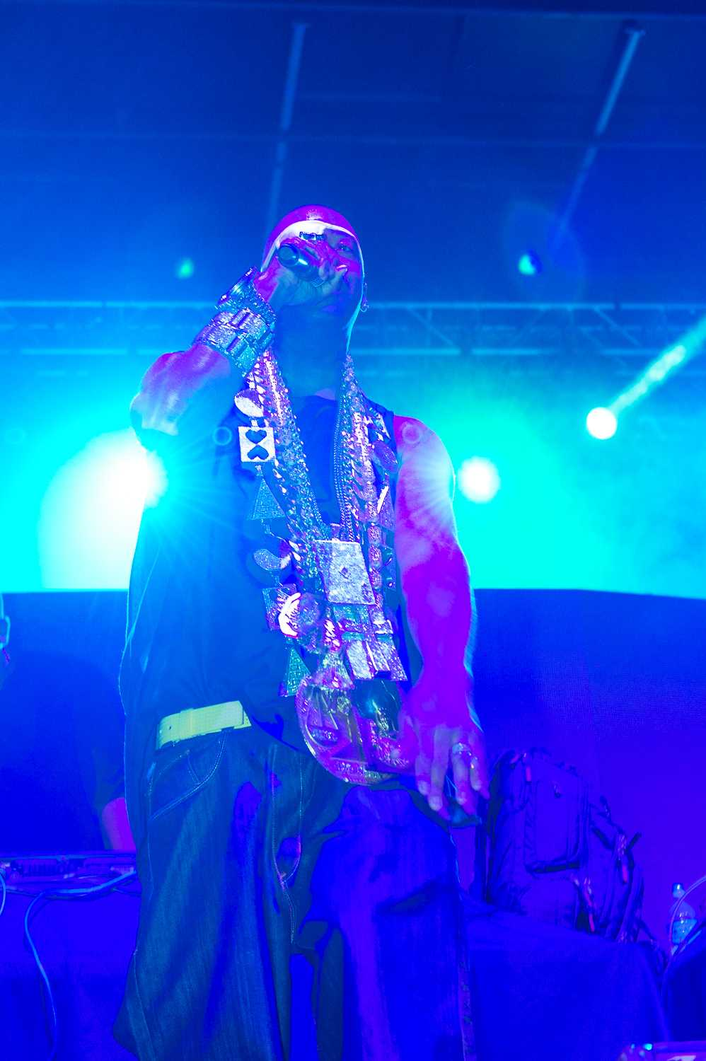 "Slick Rick raps to ""Childrens Story"", after his wife brought out his ""old school"" necklaces. Max Jackson 