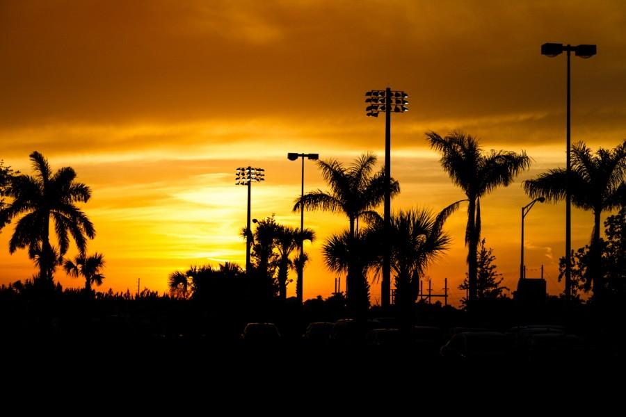 FAU sunset on Tuesday, April 7.