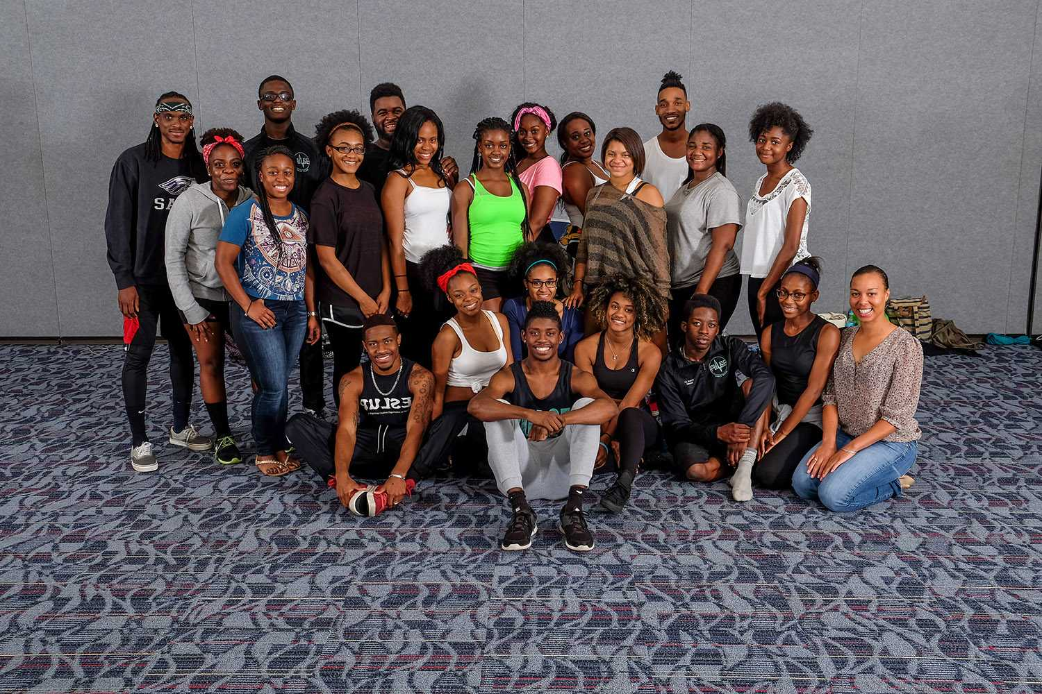 The hip - hop team of Pulse Dance Troupe pose  during their Tuesday practice. Mohammed F Emran | Web Editor