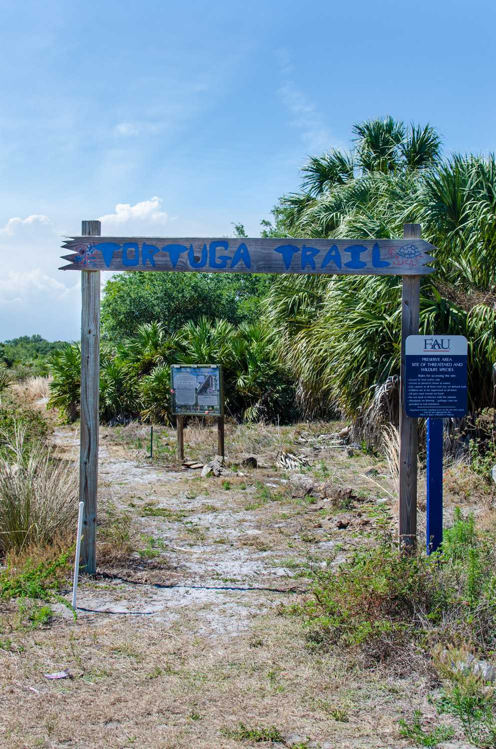 Entrance to the Tortuga Trail at FAU's Boca Campus.