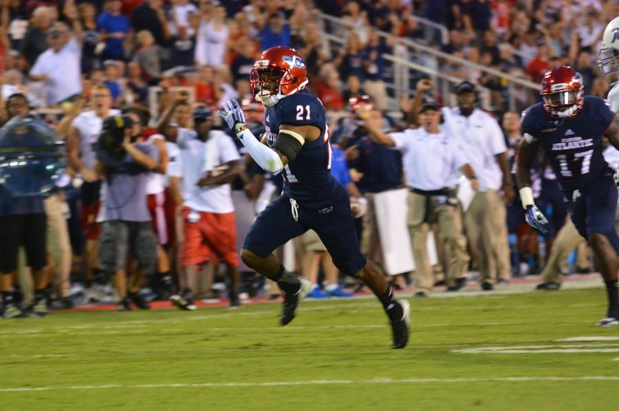 A Miami native, D'Joun Smith will play professional football almost 1300 miles from home. Photo by Michelle Friswell