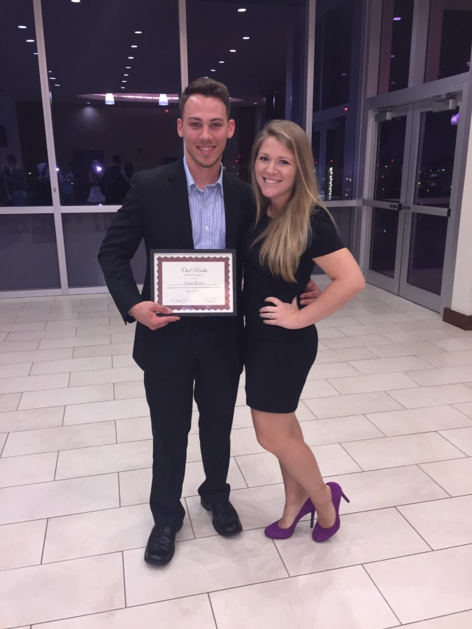 Gordon and girlfriend Hannah Bosgraaf at the 2015 FAU Student Media Banquet where he was recognized for his role at Owl Radio. Photo courtesy of David Gordon
