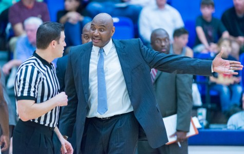 Head coach Michael Curry will face a new slate of non-conference opponents in his second year coaching at FAU. Photo by Max Jackson