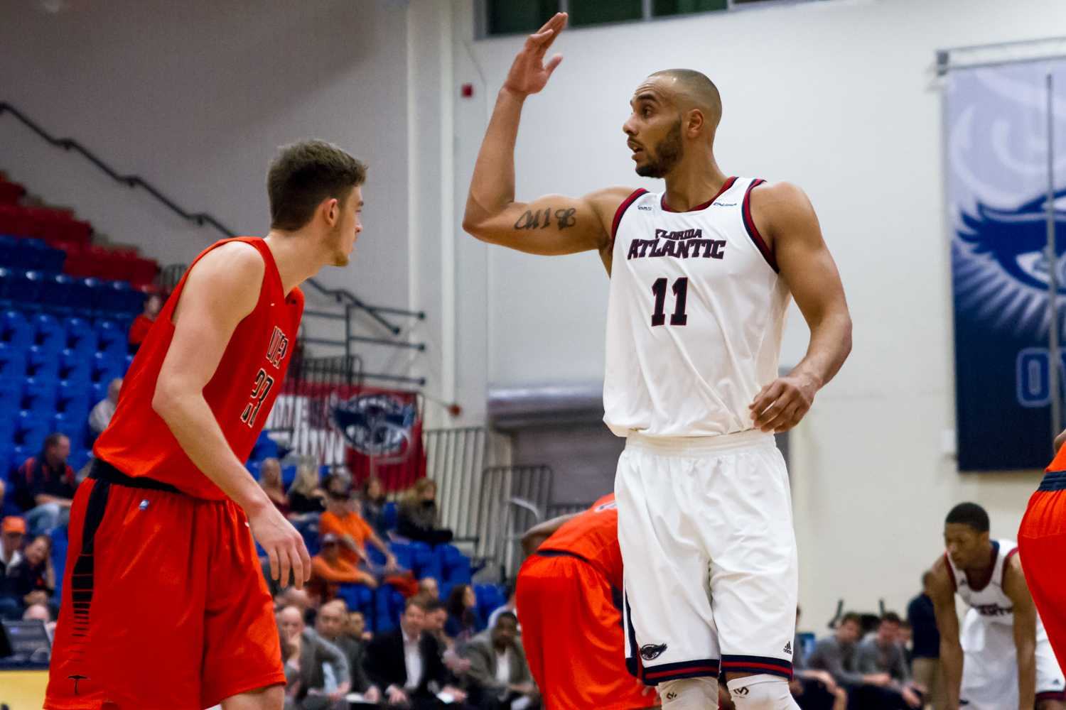 Former center Justin Raffington became the first Owl under Michael Curry to sign professionally, doing so with  Gladiators Trier in Germany. Photo by Idalis Streat | Contributing Photographer