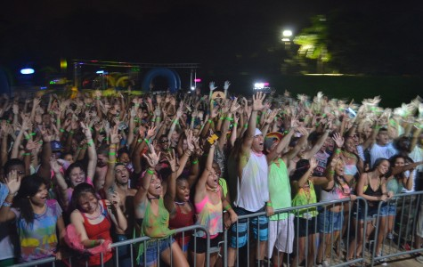 Photo of students at the 2013 Foam Party. Photo by Dylan Bouscher