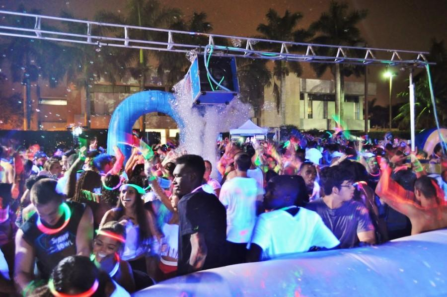 Over 600 students attended the foam party at 9:00 p.m. on Saturday Aug. 18, 2012. Photo by Michelle Friswell.