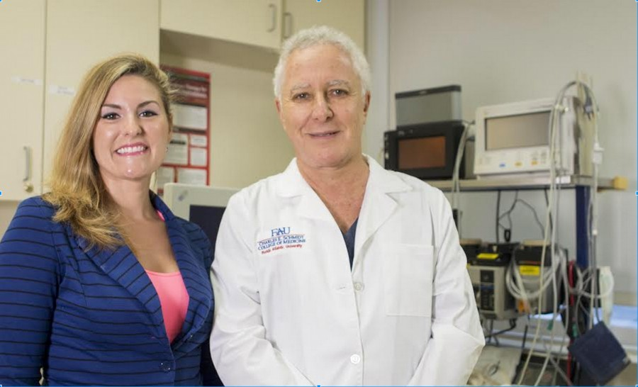 FAU senior, Elizabeth Hopkins, poses with Dr. Hilton Becker, affiliate professor at FAUs Charles E. Schmidt College of Medicine and Boca Raton plastic and reconstructive surgeon. | Photo provided by Elizabeth Hopkins