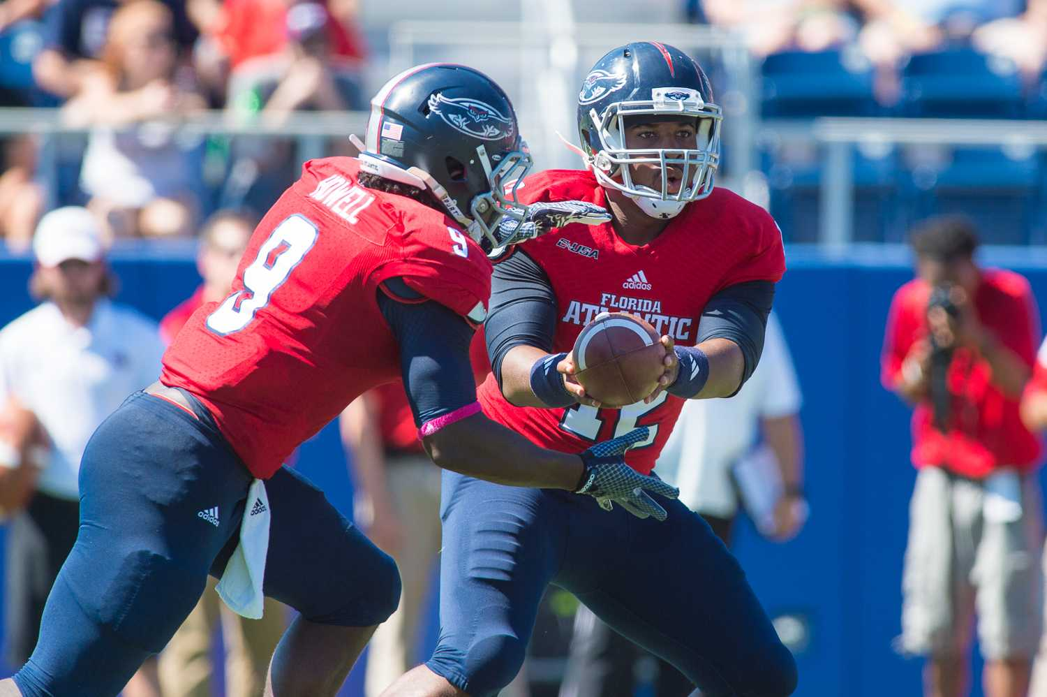 Redshirt senior quarterback Jaquez Johnson and sophomore running back Greg Howell will lead the Owls offense as they face the Miami Hurricanes Friday night. Max Jackson| Staff Photographer