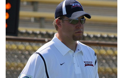 Allen Jared got his start in coaching as a graduate assistant in 2009, working his way up to become the team's running backs coach. Photo courtesy of FAU athletics.