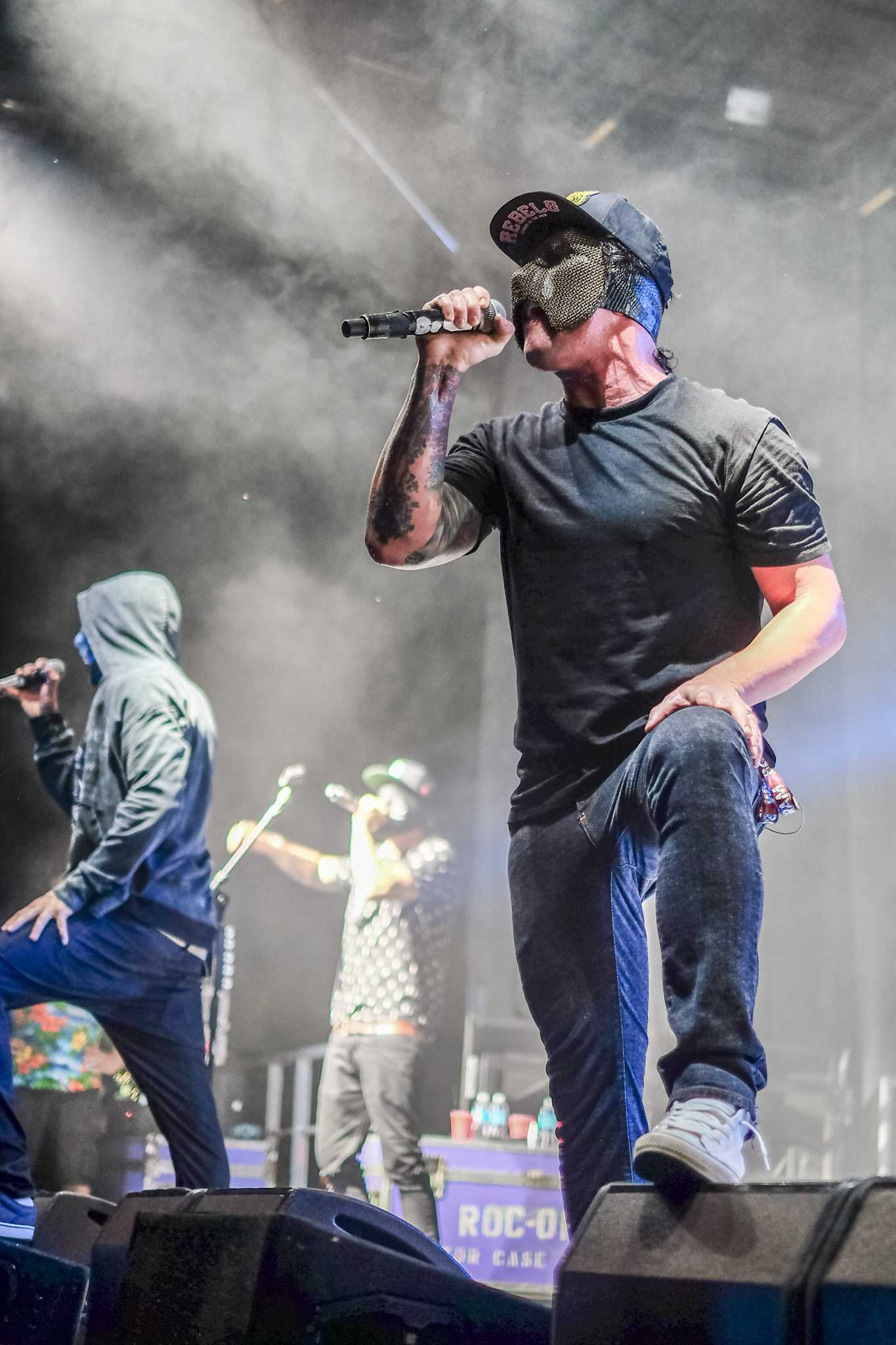 Hollywood Undead came out in masks in the beginning of their set. Mohammed F Emran   Staff Photographer