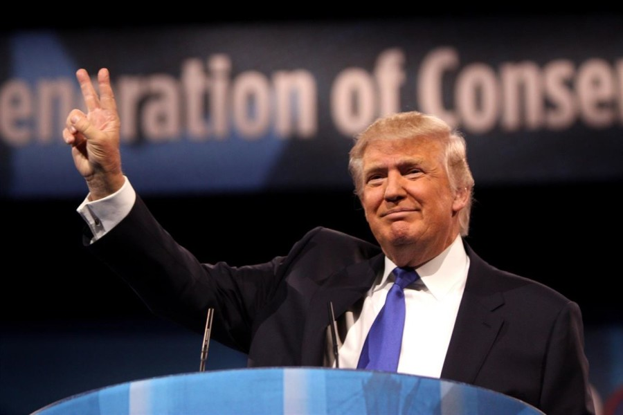 Donald Trump speaking at the 2013 Conservative Political Action Conference (CPAC) in National Harbor, Maryland. Photo from Wikipedia.
