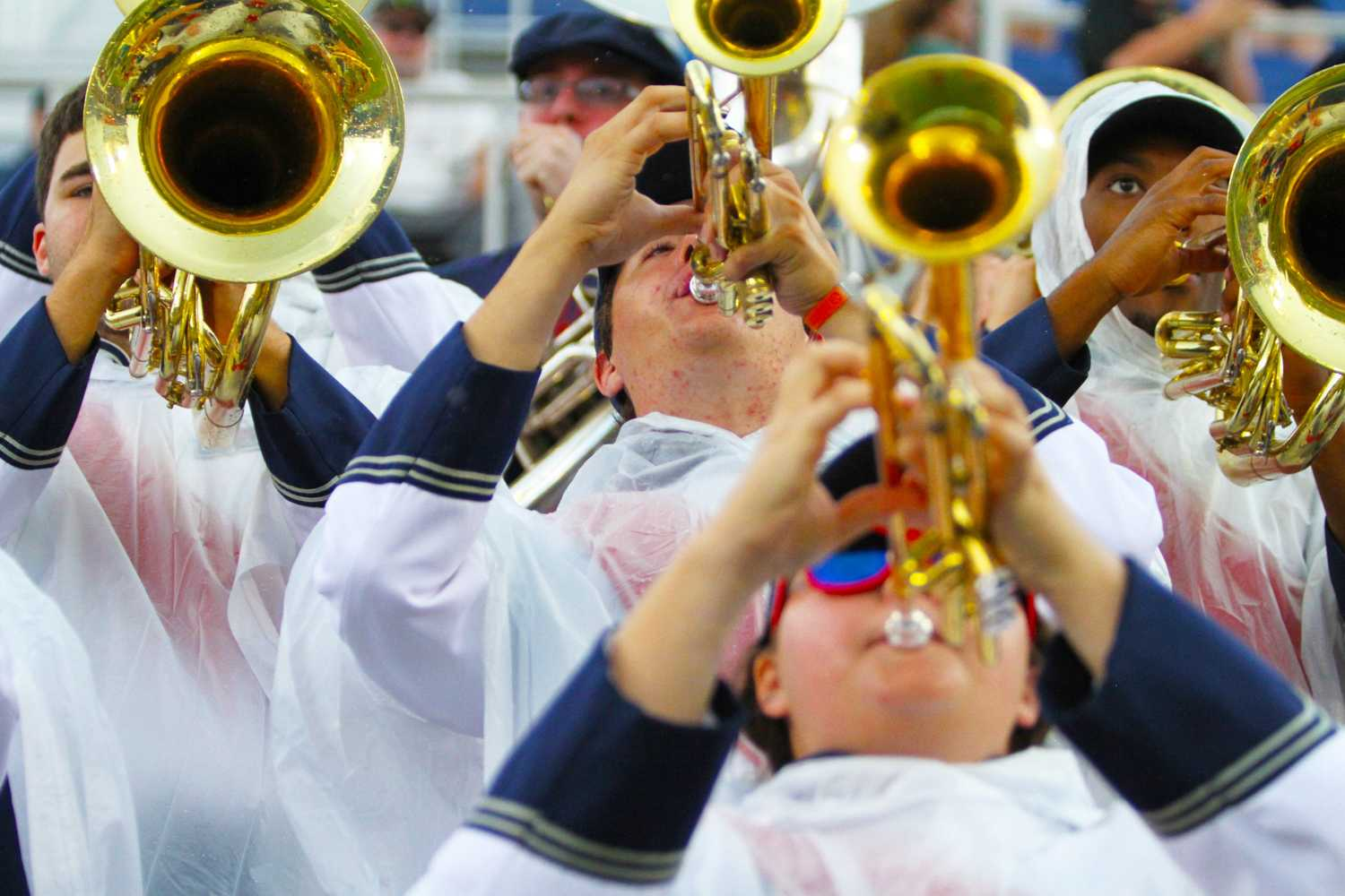 FAU Band members light up the crowd with funky beats, rain or shine. Jessica Wilkerson | Contributing Photograpoher