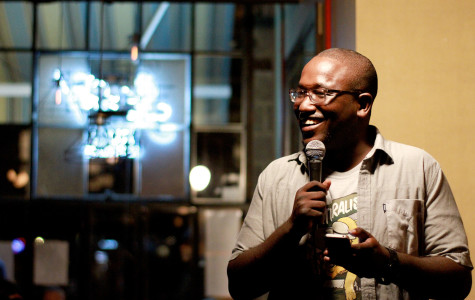 Hannibal Buress delivers his stand up act at the Knitting Factory in Brooklyn. Photo courtesy of Wikipedia