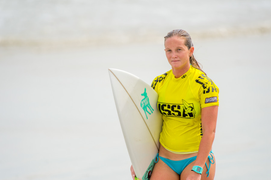 Surf+Club+president+Melanie+Gannon+comes+out+of+the+water+after+competing+during+the+NSSA%27s+competition+at+New+Smyrna+Inlet+last+Sunday.+Photo+by+Max+Jackson%7C+Staff+Photographer