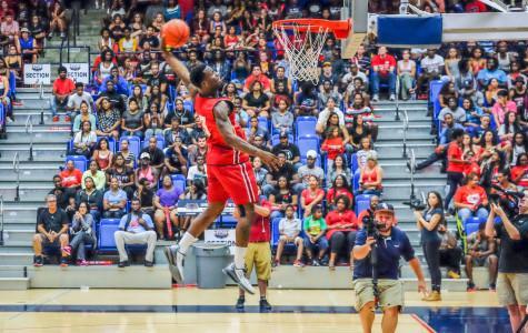 Junior guard Adonis Filer attempts a dunk. Mohammed F Emran | Asst. Creative Director