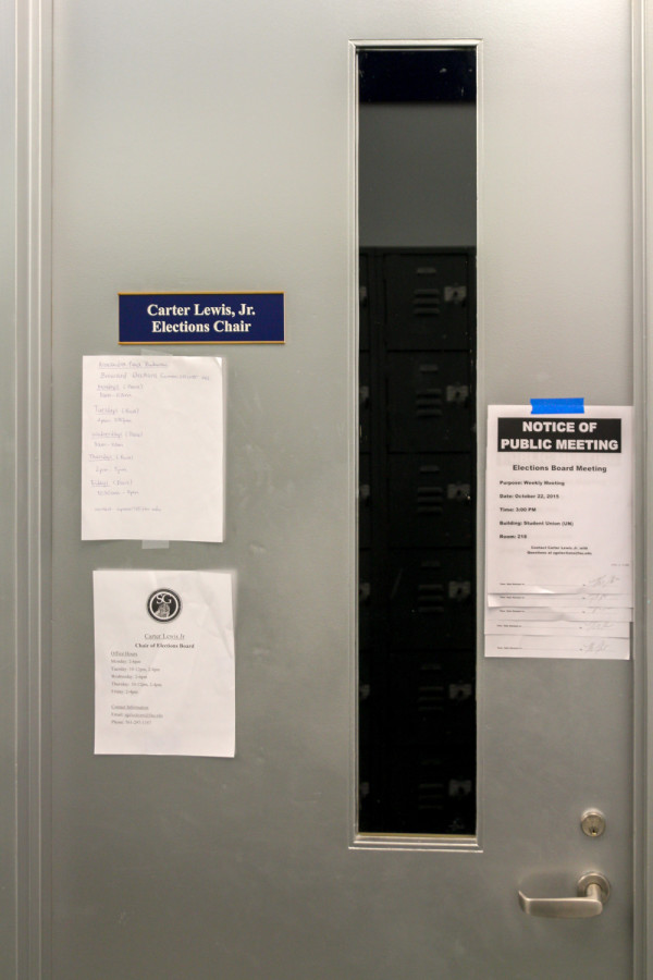 The office of Carter Lewis remains vacant. Gregory Cox | Managing Editor