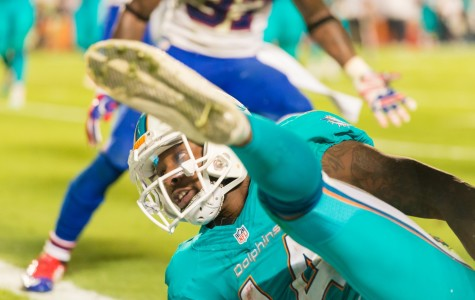 Dolphins wide receiver Jarvis Landry had six receptions for 71 yards during Thursday's 36-7 loss to the New England Patriots. Max Jackson   Staff Photographer