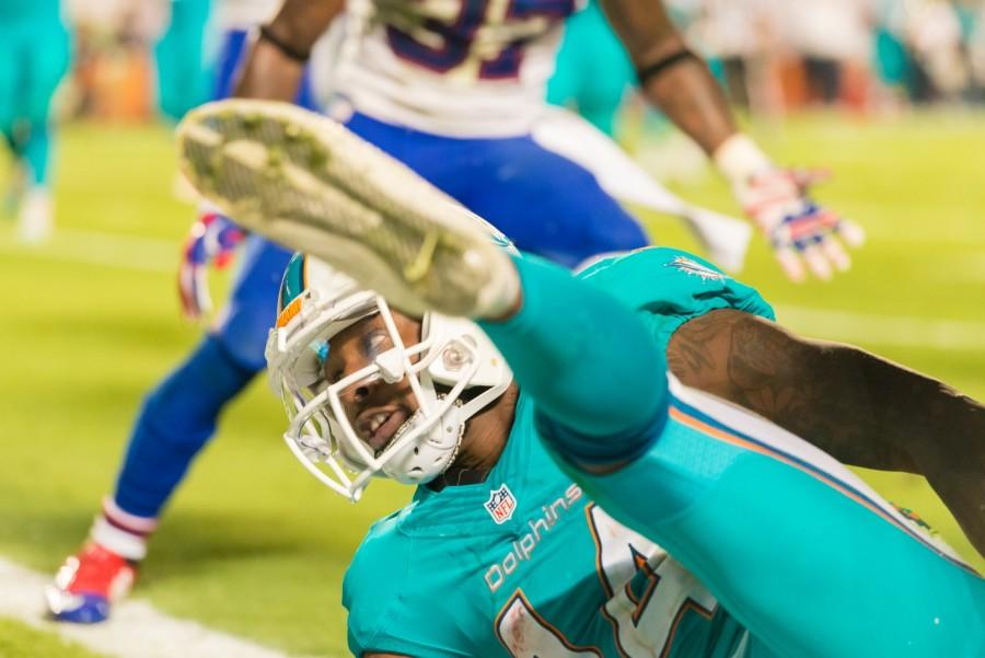 Dolphins wide receiver Jarvis Landry had six receptions for 71 yards during Thursday's 36-7 loss to the New England Patriots. Max Jackson | Staff Photographer