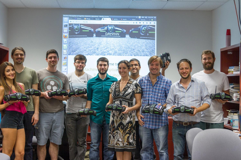 (Fifth from the left to right) Michael Kleinman, Stephanie Lewkowitz, Yunier Nieves, William Hahn, Elan Barenholtz. Jasmyn Williams | Contributing Photographer