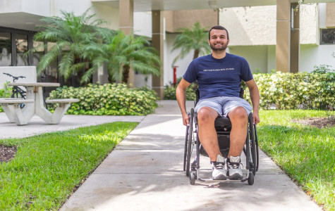 Junior communication major Nick Williams receives accommodations for his physical and mental disability. Mohammed F. Emran | Asst. Creative Director