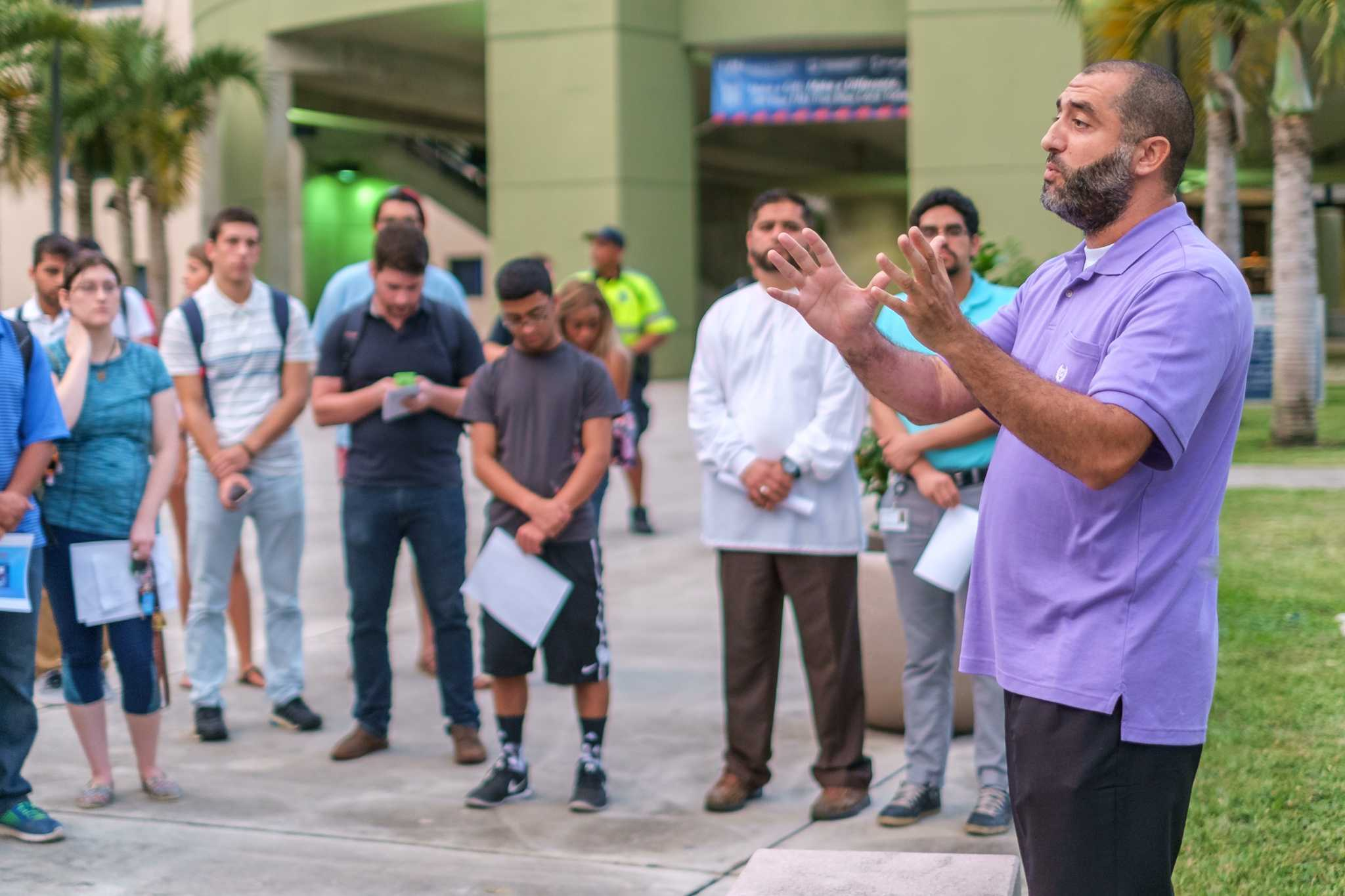 Imam Fathi Khalfi of the Islamic Center of Boca Raton talks about how the  terrorists involved in the Paris attacks does not represent Islam. | Mohammed F Emran, Asst. Creative Director