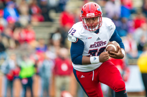 Jaquez Johnson was voted Favorite Male Athlete. He is ranked second all- time among FAU quaterbacks in average passing yards per game, with 186 yards. Photo by Max Jackson   Staff Photographer