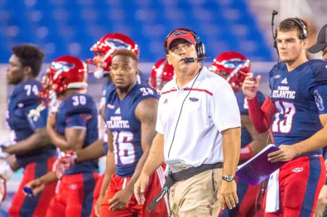 Head coach Charlie Partridge is a Plantation native with extensive roots in South Florida. He has used his connections to recruit heavily in the region. Photo by Max Jackson   Staff Photographer