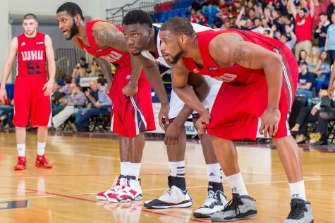 Sophomore center C.J. Turman (center) on the free throw line in a game against WKU last season. Photo by Max Jackson   Staff Photographer
