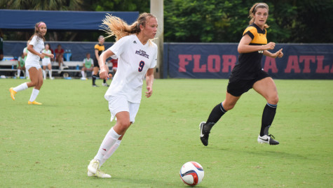 Claire Emslie took over as captain for women's soccer this year, helping lead them to their first ever C-USA tournament berth. Photo by Ryan Lynch   Sports Editor