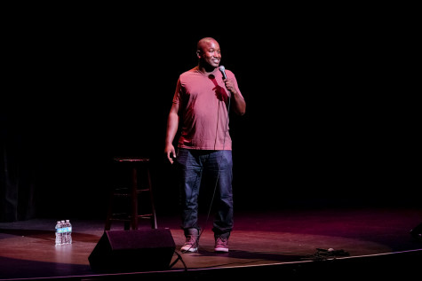 Esteemed comedian Hannibal Buress visited the Carole and Barry Kaye auditorium on Oct. 26 for Homecoming's annual comedy show. Photo by Mohammed F. Emran | Asst. Creative Director