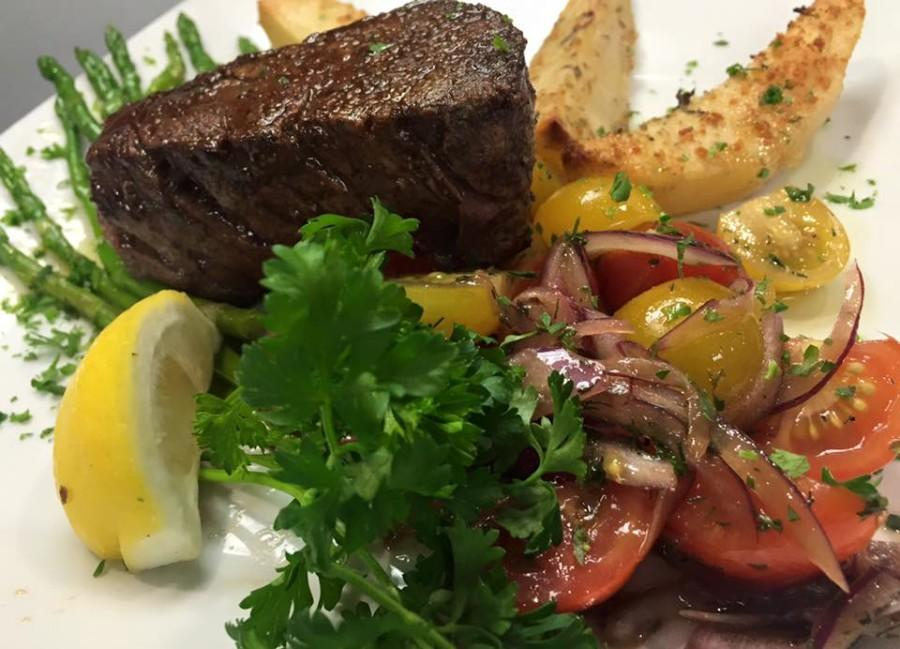 Rafina's Greek Taverna offers a 9ox center cut filet mignon with seasoned vegetables and lemon-roasted potatoes Photo courtesy of Rafina's Greek Taverna's Facebook page.
