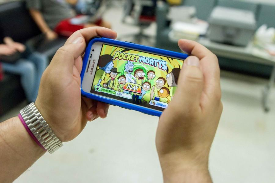 Pocket Mortys on Android. Photo by Andrew Fraieli | Opinions Editor