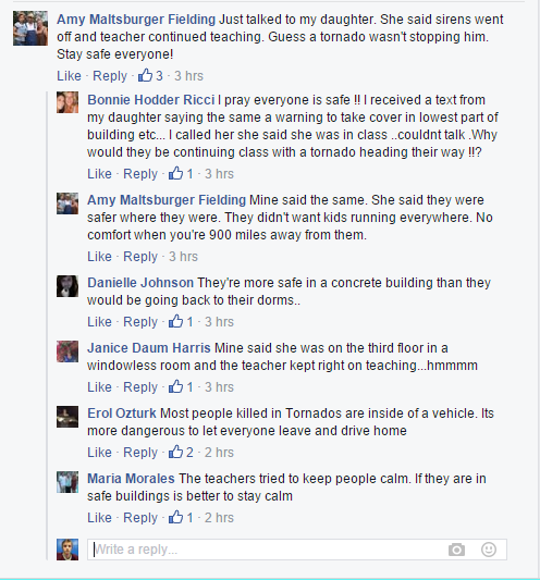 Snapshot of Facebook comments from Florida Atlantic's profile.
