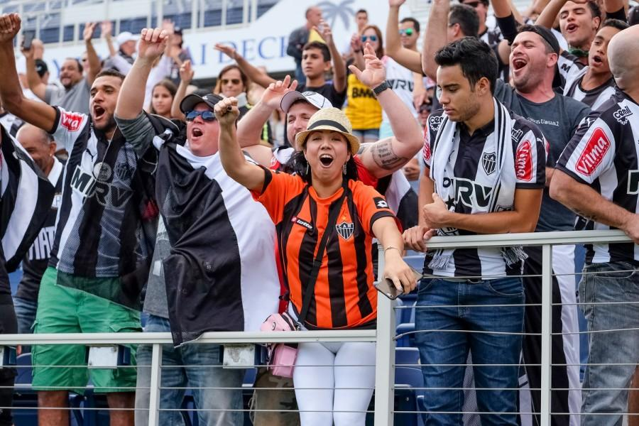 Atletico Mineiro fans cheer before the start of the first game of the Florida Cup. Mohammed F. Emran | Staff Photographer