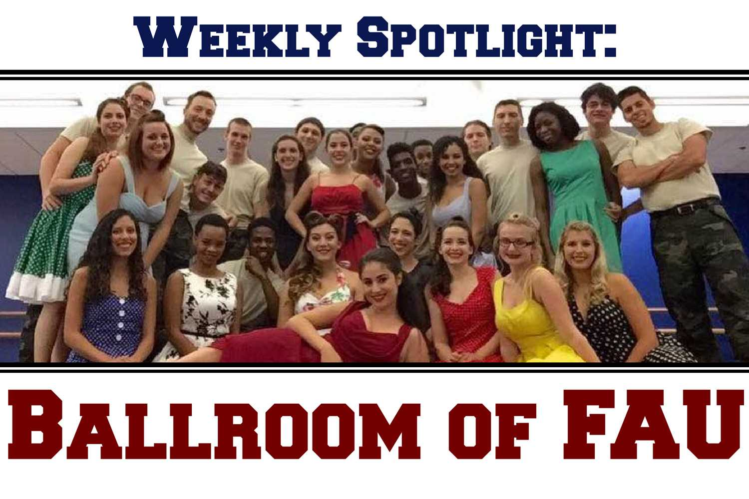 Ballroom of FAU teaches ballroom and Latin dancing, and performs in competitions each semester. Photo courtesy of Lisa Lupo, club president.